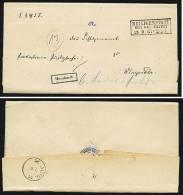 A1582) AD Justizsache-Brief Von Heiligenstadt 18.9.1867 Nach Wengerode - Prussia