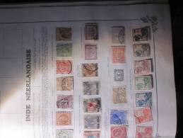 COLLECTION  TIMBRES  INDES NEERLANDAISES DEBUT 1870 VOIR PHOTOS - Niederländisch-Indien