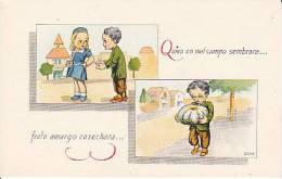 Celui Qui Sème Récolte Des Fruits Amers. Couple, Potiron. Signée Celma. - Humour