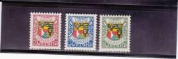 LIECHTENSTEIN - YVERT N°75/77 * - COTE  = 27.5 EUR. - - Liechtenstein