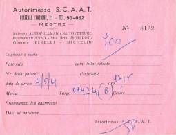 AUTORIMESSA S.C.A.A.T. - Piazzale Stazione, 21 - MESTRE - (4 Mai 1961). - Italia