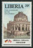 Liberia 1987 Mi 1362 ** Kaiser Friedrich Museum, River Spree, Berlin - 750th Ann. Of Berlin - Musea