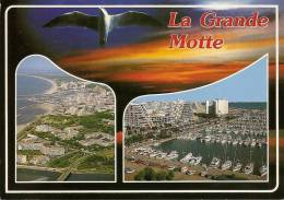 LA GRANDE MOTTE (Hérault 34) Vue Aérienne Et Port Place Des Epis Immeubles Pyramides (circ.1999 Cf Détails 2scan) MV997 - France