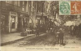 CAVAILLON VAUCLUSE COURS VICTOR HUGO COLLEC. IDEALE ECRITE CIRCULEE EN 1928 DOS VERT - Cavaillon
