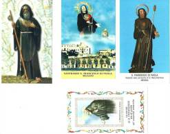 S. FRANCESCO DI PAOLA - LOTTO DI 4 SANTINI DIVERSI - M - Religione & Esoterismo