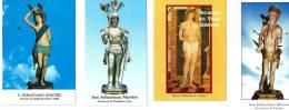 S. SEBASTIANO M. - LOTTO DI 4 SANTINI DIVERSI - M - Religione & Esoterismo