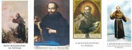 B. BONAVENTURA DA POTENZA - LOTTO DI 4 SANTINI DIVERSI - M - Religione & Esoterismo