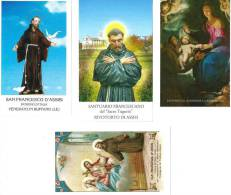 S. FRANCESCO D´ASSISI- LOTTO DI 4 SANTINI DIVERSI - M - Religione & Esoterismo