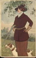 PK Illustr. Corbella - Vrouw Op Jacht - Femme Chasseur - Corbella, T.