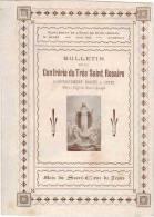 """IMAGE PIEUSE Double """" Bulletin De La Confrérie Du Très Saint Rosaire Mois Du Sacré Coeur De Jésus """" - Echo De St Joseph - Images Religieuses"""