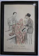 Illustrateur SEM Chez Edouard & Butleur Prince Hindou Inde Ou Personnalité Humour Lithographie Multiple Coloriée Encadré - Prints & Engravings