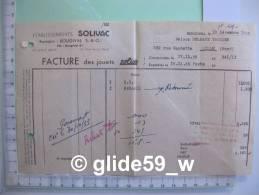 Etablissements SOLIVAC - Jouets Solido - BOUGIVAL Le 19 Décembre 1955 - Altri