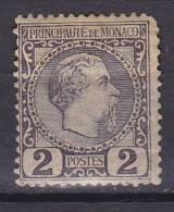 Monaco 1885 Mi. 2      2 (C) Fürst Charles III. MH* - Monaco