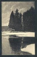 Deutschland Schwarz Weiße Ansichtskarte Winter Am Schwarzwaldweiher Nach Dem Gemälde Von H. Dischler Nicht Gelaufen 1900 - Ohne Zuordnung