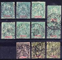 INDOCHINE France Indo China Lot Cancelled Obliteres Travinh Cholon Haiphong