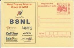 BSNL Telecom Co.,   Meghdoot Postcard - Telecom