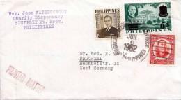 Phillipines 1962, Brief Mit Schöner 3 Fach Frankierung > Germany/Bruchsal - Philippinen