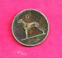 IRELAND 1966 , Circulated CoinXF, 6d , Copper Nickel, Km13a C90.001 - Ireland