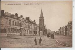FRESNOY LE GRAND - Grande Place Et Eglise - Zonder Classificatie