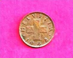 SWITZERLAND 1948, Circulated Coin XF, 2 Rappen, Bronze Km 47, C90.018 - Zwitserland