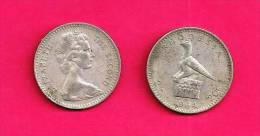 RHODESIA 1964, Circulated Coin VF, 2SH=20 Cent, Km3, C254 - Rhodesia