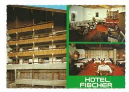 Cp, Commerce, St-Johann In Tirol (Autriche - Hotel Fischer, Multi-Vues, Voyagée - Commerce