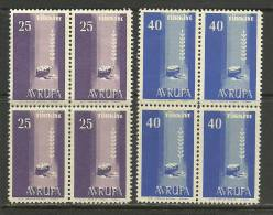 Turkey ; 1958 Europa CEPT (Block Of 4) - Europa-CEPT
