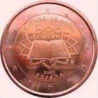2 EURO  COMMEMORATIVE TRAITE DE ROME  ESPAGNE  2007 PIECE   / NEUF / UNC - Spanien