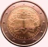 2 EURO COMMEMORATIVE  ITALIE 2007** TRAITE DE ROME /  NEUF / UNC - Italien