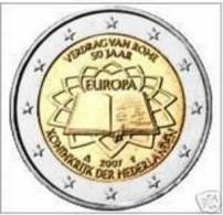 2 EURO COMMEMORATIVE  PAYS-BAS 2007 TRATE DE ROME  / NEUF / UNC - Niederlande