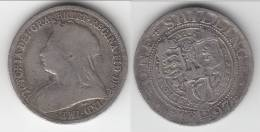 GRANDE-BRETAGNE - GREAT-BRITAIN ** ONE SHILLING 1897 VICTORIA - ARGENT - SILVER ** ACHAT IMMEDIAT !!! - 1816-1901 : Frappes XIX° S.