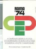 XI CAMPIONATI EUROPEI  DI ATLETICA, ROMA 1974, ANNULLO SPECIALE FIGURATO SU CARTOLINA DEDICATA, - Atletica