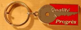 PORTE CLEF RESEAU EURISYS QUALITE & PROGRES - Porte-clefs
