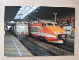 """CPM - TGV PSE N°85-BB 25245 """"Beaune"""" Lyon Perrache 06/12/1991 Tirage Limité 100 Exemplaires (N° 011/100) - Trains"""
