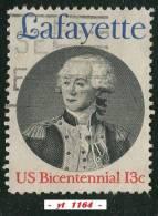1977  -  Amérique Du Nord  -  Etats-Unis  - Lafayette - 13 C. Bleu, Rouge Et Noir - - Indépendance USA