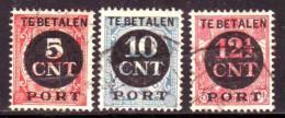 Netherlands 1924 Mino 65,67,68 Used - 1891-1948 (Wilhelmine)