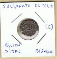 INDIA  -  SULTANATO DE DELHI  -  Billon Jital  Bilingue  (2) - Indisch