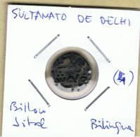 INDIA  -  SULTANATO DE DELHI  -  Billon Jital  Bilingue  (4) - Indiennes