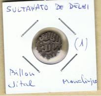 INDIA  -  SULTANATO DE DELHI  -  Billon Jital  Monolingue  (1) - Indische Münzen