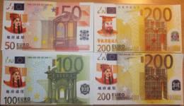 HELL BANK NOTES LOT 20 BILLETS 5x 50 + 5x 100 + 5x 200 +  5x 200 EURO  UNC - Banknoten
