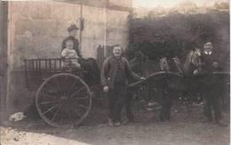 VITRY SUR SEINE (94) ? CARTE PHOTO ATTELAGE CHEVAL ET ANIMATION (CACHET DE DEPART DE VITRY SUR SEINE) 1912 - Vitry Sur Seine