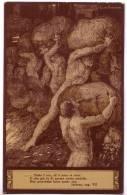 ARTE ANICHINI EZIO EDITORI GIUSTI & FIGLI FIRENZE INFERNO CANTO VII F/P VIAGGIATA 1928 VI E.F. TASSATA - Sin Clasificación