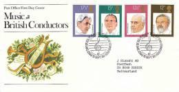 DV 1992) GB UK MiNr. 846-49 FDC, Dirigenten Wood, Beecham, Sargent, Barbirolli, Conductors - Musik