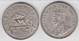 **** AFRIQUE DE L´EST - EAST AFRICA - 1 SHILLING 1924 GEORGE V - ARGENT - SILVER **** EN ACHAT IMMEDIAT !!! - British Colony
