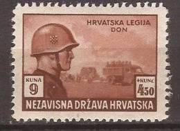 1943 X  100  CROAZIA HRVATSKA NDH  MILITARIA    MNH - Croatie