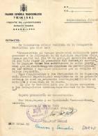 Documento FALANGE 1960. Granollers (barcelona) Guerra Civil - Documentos Históricos