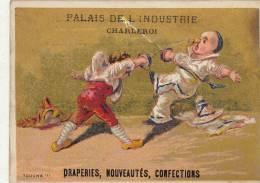 Chromo Enfant Escrime Palais De L'industrie Rue De La Montagne Charleroi Etoffe Costume  Litho Mertens Bruxelles - Otros
