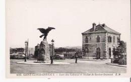 SAINT CLOUD COTEAUX 4525 GARE DES COTEAUX ET STATUE DE SANTOS DUMONT - Saint Cloud