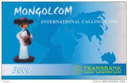Mongolia, 300 Mongolcom Calling Card, (plastic), 2 Scans.