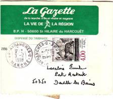 PNU 2528 Journal Avranches C(supprimé)+2235 Donville Poste Restante  (demitaxe)Tarif!! - Journaux